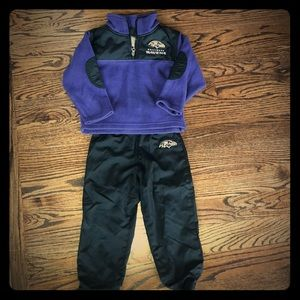 Ravens toddler fleece sweatshirt and pants set